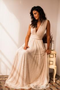 wedding photo - Tulle wedding gown, champagne wedding gown, removable tulle gown, champagne tulle gown, polka dot gown, champagne gown with tulle, wedding