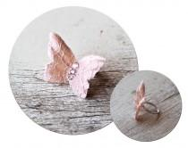 wedding photo - 74_Butterfly ring, Butterfly accessories, Bridesmaid gift, Blush Original ring, Butterfly jewelry, Pink butterfly, Beautiful ring Gift ideas