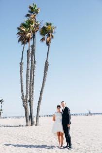 wedding photo - Modern Industrial Wedding on Long Beach