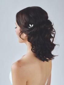 wedding photo - Leaf Hair Pin