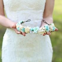 wedding photo - Flower crown, Bridal flower crown, Wedding headband, Wedding flower crown, floral crown.