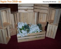 wedding photo - GREAT SALE flower planter box , wooden crates , 18in wedding centerpieces , Rustic wood crates , table centerpiece , flower vases , wedding