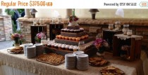 wedding photo - PICK ME SALE 5 tier wedding reception decorations Cupcake Stand cake stand country wedding barn wood Stand rustic country reception decorati
