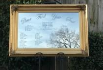 wedding photo - Mirror Seating Chart,Wedding mirror seating chart,Wedding Sign,