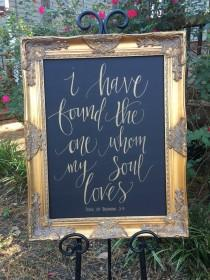 wedding photo - Mirror Seating Chart,Chalk Board Sign,Wedding Sign