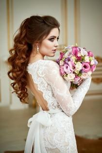 wedding photo - Wedding Dress Renaissance , Lace Wedding Dress, Bohemian Wedding Dress, Long Sleeve Dress, Open Back Gown, Vintage Wedding Dress, 2 in 1