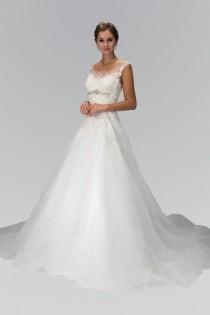wedding photo - Inexpensive A-line Ballgown Wedding Dress Gl1355 Wedding Dress
