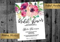 wedding photo - Floral Bridal Shower Invitation, Baby Shower, INSTANT DOWNLOAD Watercolor Flowers, Floral Invitation, birthday, DIY, Flower Invite, boho