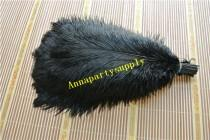 wedding photo - 50 pcs black ostrich feather plume for wedding party supply wedding centerpiece