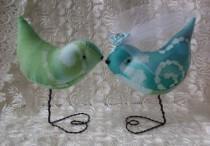 wedding photo - Cake Topper Tie Dyed Love Birds  Weddings Showers Nursery Decor Newburystreetchic  We Ship Internationally