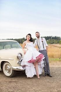wedding photo - Retro & Pin Up Inspired Farm Wedding