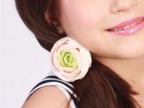 wedding photo - Flower Hair Tie, Baby Girl Clothes, Hair Elastic, Baby Headband, Flower Girl Headband, Floral Tie, Ranunculus