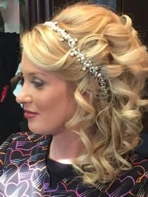 wedding photo - Wedding Headband/ Ivory Pearl and  Crystal stone hairband, bridal headband, handmade headband,Special Order.rhinestones headpicee