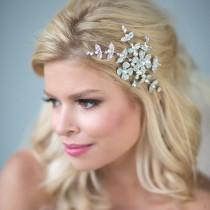 wedding photo - Wedding Hair Comb, Bridal Hair Comb, Pearl Crystal Bridal Comb, Wedding Headpiece, Bridal Hairpiece, Gold Wedding Hair Comb