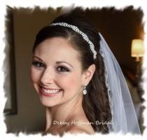 wedding photo - Wedding Headpiece, Bridal Headpiece, Wedding Tiara, Rhinestone Bridal Headband, Crystal Headband, Jeweled Wedding Headband, No. 5050HB, SALE