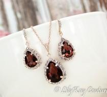 wedding photo - Burgundy Earrings Marsala Bridesmaid Earring Wine, Merlot, Cranberry Bridesmaid Jewelry Rose Gold Burgundy Rose Gold Earring Dark Red Ruby
