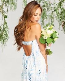 wedding photo - Sirene Maxi Dress ~ Blue Me Away