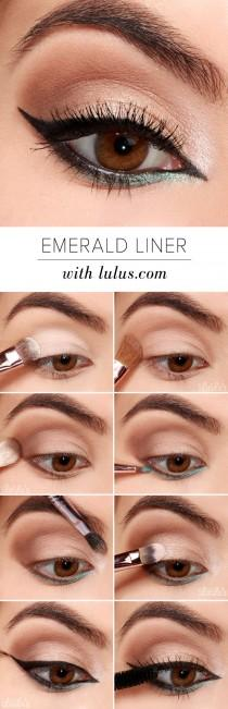 wedding photo - LuLu*s How-To: Emerald Green Eyeliner Tutorial (Lulus.com Fashion Blog)