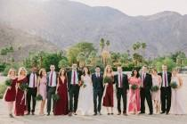 wedding photo - A Fall Wedding in Palm Springs (With Synchronized Swimmers!)