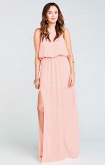 wedding photo - Heather Halter Dress ~ Frosty Pink Crisp