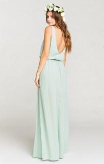 wedding photo - Kendall Maxi Dress ~ Dusty Mint Crisp