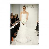 wedding photo - Theia - Fall 2014 - Eloise Silk Organza Mermaid Wedding Dress with Ruffle Skirt and Ruched Sweetheart Bodice - Stunning Cheap Wedding Dresses