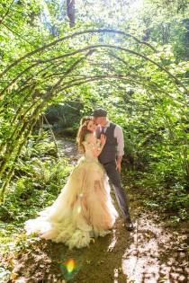 wedding photo - A rainbow of sweet and dreamy pastel wedding dresses