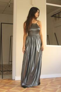 wedding photo - Prom Dress, Maxi Dress, Cocktail Dress,  Silver Dress, Maxi Long Dress, Sexy Dress, Slit Dress, Backless Prom Dress, Open Back Prom Dress