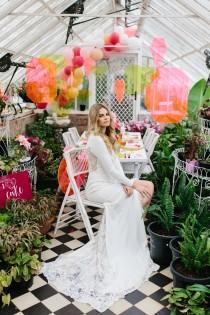 wedding photo - Modern Neon Wedding Ideas With One Fine Day - Polka Dot Bride