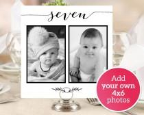 wedding photo - Personalized Photo Table Numbers Printable Numbers 1-40, Photo Table Number Cards Templates, Wedding Photo Cards Printable Templates #BT104