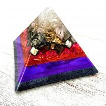 wedding photo - Orgone Pyramid - Element of fire: Crystal quartz, Pyrite