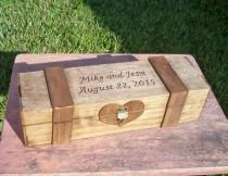 wedding photo - Rustic Wedding Wine Box - Wine Capsule - Wedding Capsule - Rustic Wedding - Rustic Wedding Wine Box Gift - Lockable Wine Box - Wedding Gift