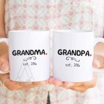 wedding photo - new grandma gift, grandma established, best gifts for grandparents, personalized new grandparents gifts, new grandma coffee mugs  MU300