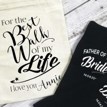 wedding photo - For the Best Walk of my Life Father of the Bride Personalised wedding morning socks for walking up the aisle daughter give away