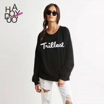 wedding photo - Spring and autumn new round neck casual jacket couples mounted print loose pullover sweatshirt female - Bonny YZOZO Boutique Store