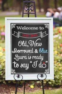 wedding photo - Bridal shower decor,Printable Bridal Shower, modern chalkboard style Sign, Bridal shower sign