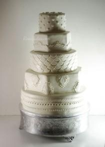 wedding photo - Art Deco 20's Themed Wedding Cake