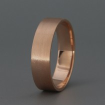 wedding photo - 14k Rose Gold Matte Men's wedding Band