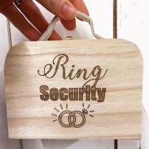 wedding photo - Ring Security, Personalized ring box, Ring bearer box, Ring Bearer suitcase, mini ring suitcase, personalised ring box