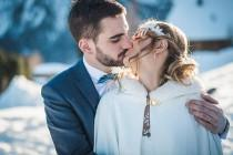 wedding photo - Rhône-Alpes Le Gîte du Passant Winter Wedding - French Wedding Style