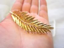 wedding photo - Gold Grecian leaf hair clip, leaf hair barrette, wedding hair clip, gold leaf hair, woodland wedding, bridal hair accessory,  gold leaf clip