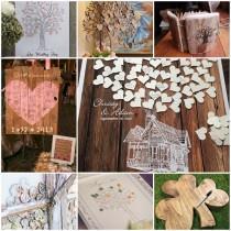 wedding photo - Un livre d'or champêtre, oui mais lequel choisir ? - Mariage.com