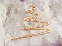 wedding photo - Zigzag DIAMOND Designer RING 14K Gold with Natural Brilliant Cut Diamonds