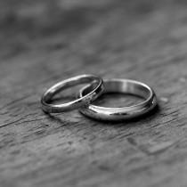 wedding photo - 14k Palladium White Gold Ring, Made To Order Simple, Handmade Engagement or Wedding Ring