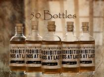 wedding photo - 50 Prohibition Cork Glass Bottles for Wedding Favors Empty Bottles 1920s