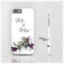 wedding photo - Wedding Bride iPhone Case, Mr Mrs, Foral, Flower, iPhone 6, Mobile Accessories, 6s, 6 Plus, SE, 5 5s, Under 25, Gifts for Her, 177C_ArtBJC