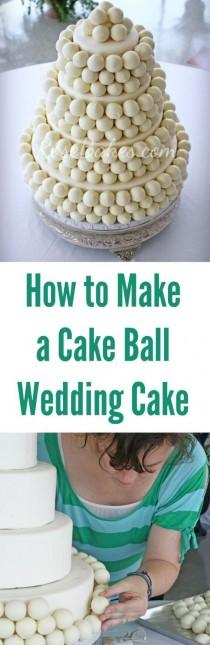 wedding photo - How To Make A Cake Ball Wedding Cake