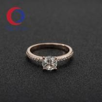 wedding photo - Halo Engagement Ring,Modern Engagement Ring,minimalist wedding ring, morganite engagement ring set, round rose gold engagement ring,1 2021