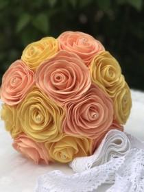 wedding photo - Felt Bridal Bouquet - Rose Bouquet - Unique Weddings - Forever Flowers - Keepsake Bouquet - Wedding Flowers - Destination Wedding