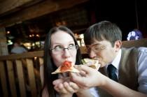 "wedding photo - Pull a ""Lady and the Tramp"" for your alternative cake cutting"